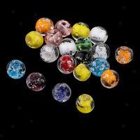 Mischfarbe glasierte Glasperlen für die Schmuckherstellung 20 Stück lose