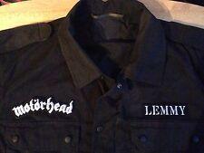 Motorhead carretera tripulación Lemmy Negro Camuflaje Ejército Camisa Chaqueta Ace of Spades Metal