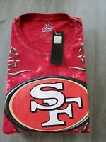 NWT San Francisco 49ers Tie Dye T-Shirt 6XL NFL Majestic Apparel Football