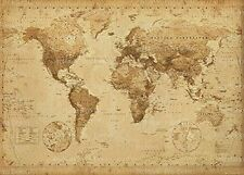 Old World Map EdibleIcing image for 1/4 sheet cake