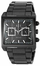 Armani Exchange Men's Black Chronograph Square Dial Stainless Watch AX2222 NEW!!