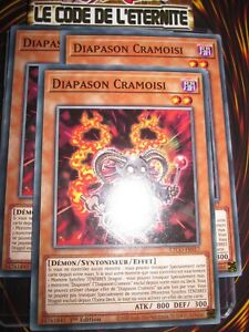 YU-GI-OH! PLAYSET (LOT DE 3) DIAPASON CRAMOISI ETCO-FR017 NEUF EDITION 1 FRENCH