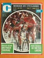 Miroir du Cyclisme 214 du 04/1976-Paris-Bordeaux de Meyer-Poster Dietrich Thurau