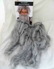 Beard Only - Men's Gray Grey Wizard Adult One Size Halloween Costume Accessory