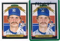 LOT 2 1985 Donruss FRENCH & ENGLISH VERSIONS #7 Don Mattingly DK Yankees RARE $$