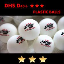 DHS D40+ 3-Stars New Material Table Tennis Balls Plastic PingPong Balls