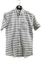Rip Curl SIDEWAYS SHIRT Mens Short Sleeve Casual Shirts New - CSH7AG Blue
