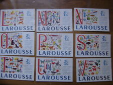 lot de 9 Buvards Blotting paper LAROUSSE lettre L,M,N,O,P,S,T,U,V bis