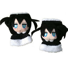 Anime Black Rock Shooter Gloves Plush Black Gloves Cosplay Winter Glove