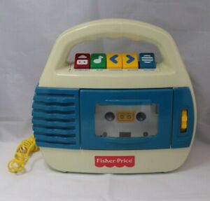 Vtg 1997 Fisher Price KID TOUGH Cassette Tape Recorder Player Microphone 73801