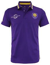 adidas MLS Men's Orlando City SC Climalite Authentic Team Polo, Purple