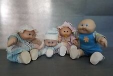 Lot of 4 Vintage Soft Sculpture Baby Cabbage Patch Kids Doll 1978, 1982