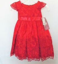 NWT Princess Faith 2T Fancy Cherry Red Party Dress Special Occasion Valentine