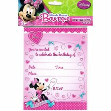 Minnie Mouse Bow-tique Party Invitations (8)
