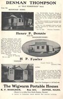 1906 Wigwarm Portable Houses Denman Thompson Old Homestead Dover MA Vintage Ad