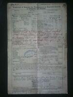 TITANIC TRANSCRIPT OF REGISTER DOCUMENT , DISASTER LIVERPOOL BELFAST SHIP , GIFT