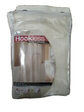 Hookless® Waffle 71-Inch x 74-Inch Fabric Shower Curtain in Cream No rings req