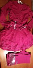 NEW Naartjie Organza Skirted Dress & Sequin Trim Leggings Sz 6