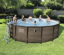 Bestway Power Steel Deluxe set. Round swimming pool 14ft x 42in / 4.27m x 1.07m