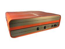 Giradischi Europhon Portatile bauletto valigietta Arancione Vintage