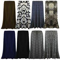 Skirt Gypsy Ladies Long Size Maxi Womens Jersey Dress New Elastic Waist UK 12-22