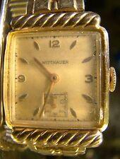 Nice Men's Vintage Wittnauer 10 K GF Hidden Lug 17 Jewel Faceted Crystal Watch