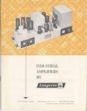 Langevin Brochure 'Industrial Amplifiers By Langevin'