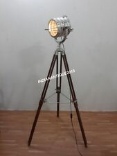 ROYAL THEATER SPOT LIGHT FLOOR LAMP CHROME SEARCHLIGHT WITH TRIPOD STAND