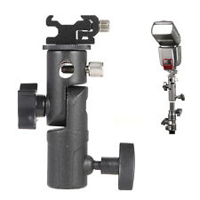 E-Type Flash Bracket/Umbrella Holder+Adjustable Hot Shoe Mount for Camera Tripod