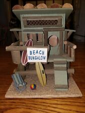 Beach Bungalow Birdhouse, Decor