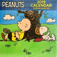 """2019 Peanuts Snoopy Charlie Brown 10"""" x 10"""" Wall Calendar by Bendon New / Sealed"""