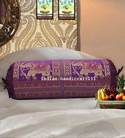 Sofa Indian Cushion Bolster Pillow Brocade Round Paisley Bolster Cushion Throw