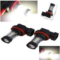 2Pc 80W Car LED H11 Fog Tail Driving Head Light Lamp Bulb Super White 6000K