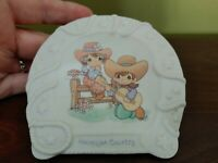 Enesco Precious Moments Hallelujah Country 1994 Small Horseshoe Plaque Plate
