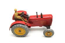 Vintage Dinky 300 Massey Harris Red Tractor Original Box Meccano Tan Driver