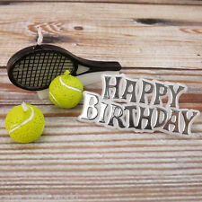 Tennis Candle Kit - Happy Birthday Motto With Tennis Balls and Rackets Candles