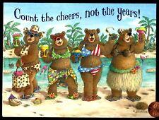 Teddy Bears Women Bikinis Bearkini Beach - Jeffrey Severn Birthday Card  UNUSED