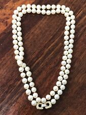 ESTATE - 14 Carat Long Strand Of Cultured Pearls With Diamond Clasp - Valuation
