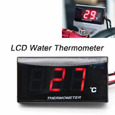 Red LCD Digital Water Temp Thermometer Gauge Meter For Motorcycle Scooter ATV