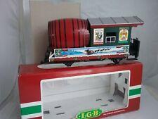 LGB 31420 Christmas Barrel Beer Keg Trail Rail Car Original Box Made in Germany