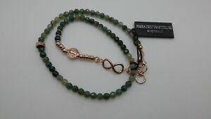 MARIA CRISTINA STERLING bracciale argento 2 GIRI unisex G2264R pietre verdi