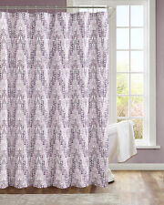 Modern Painted Chevron Purple  Fabric Shower Curtain NWOP