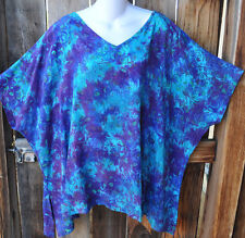 """ART TO WEAR MISSION CANYON BL 12 V NECK TUNIC IN ALL NEW FIJI, OS+, 56""""B"""