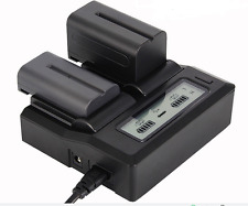 Battery Charger Fast Quick Dual  for FM NP-F970/B F750 F550 VBD1 VBD2 V607U V617