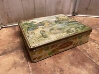"Vintage Edward Sharp & Sons Limited Candy Toffee Tin - ""Autumn"" Eynsford Kent"
