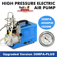 110V High Pressure Electric PCP Air Compressor 30MPa 4500PSI Scuba Diving Pump
