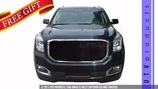 GTG 2015 - 2017 GMC Yukon and XL 1PC Gloss Black Insert Billet Grille Grill Kit