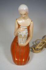 BEAUTIFUL ART DECO LADY ALADIN LUXE PERFUME LAMP ARGILOR ROBJ