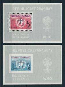 [105507] Paraguay 1962 Against Malaria mosquito 2 Souvenir Sheets MNH