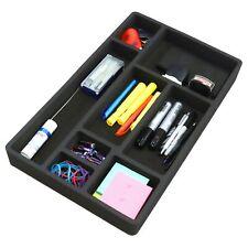 Desk Drawer Organizer Insert Black Home or Office 8 Slot 19.9